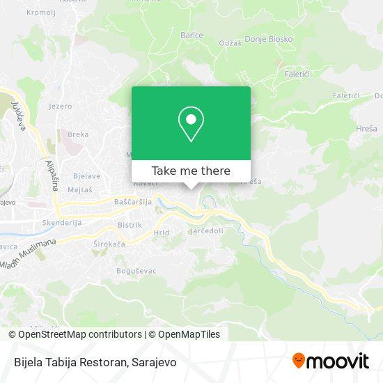 Bijela Tabija Restoran map