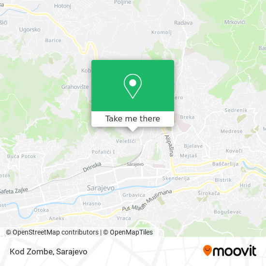Kod Zombe map