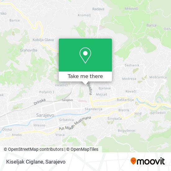 Kiseljak Ciglane map