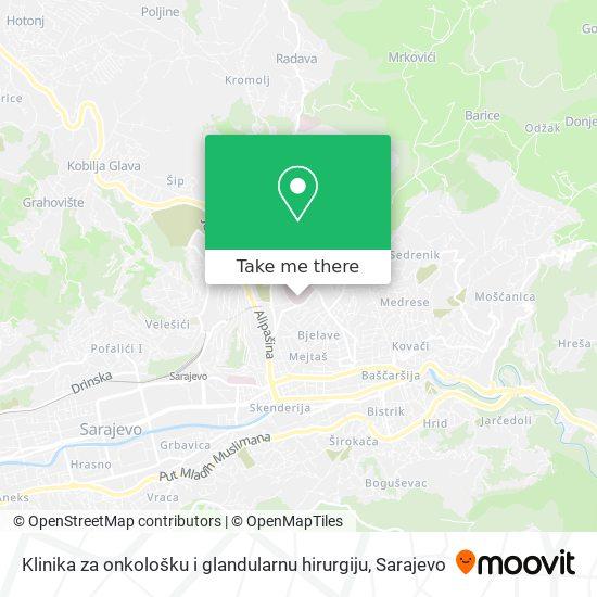 Klinika za onkološku i glandularnu hirurgiju map