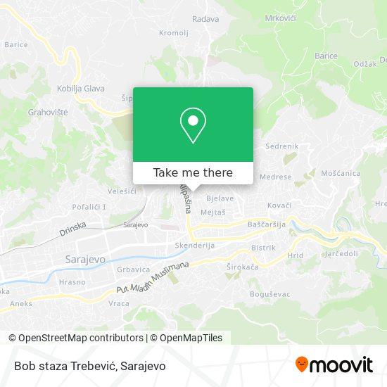 Bob staza Trebević map