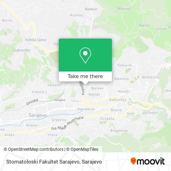 Stomatoloski Fakultet Sarajevo map