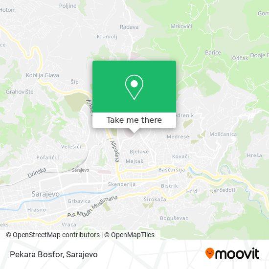 Pekara Bosfor map