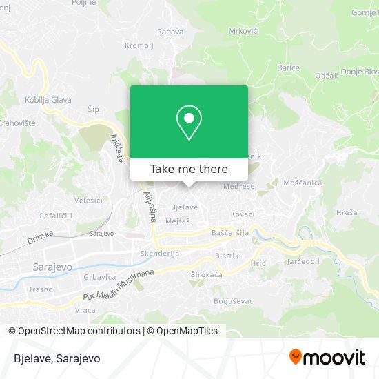 Bjelave map