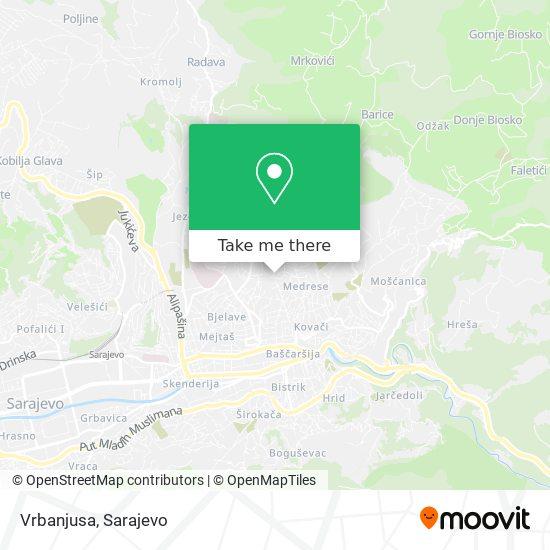 Vrbanjusa map