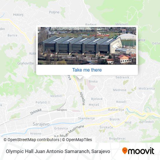 Olympic Hall Juan Antonio Samaranch map