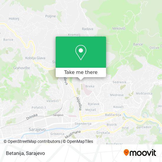Betanija map