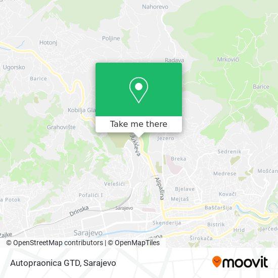 Autopraonica GTD map