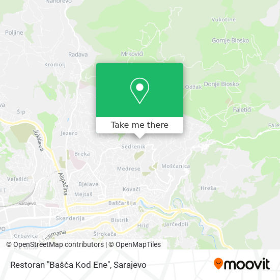 "Restoran ""Bašča Kod Ene"" map"
