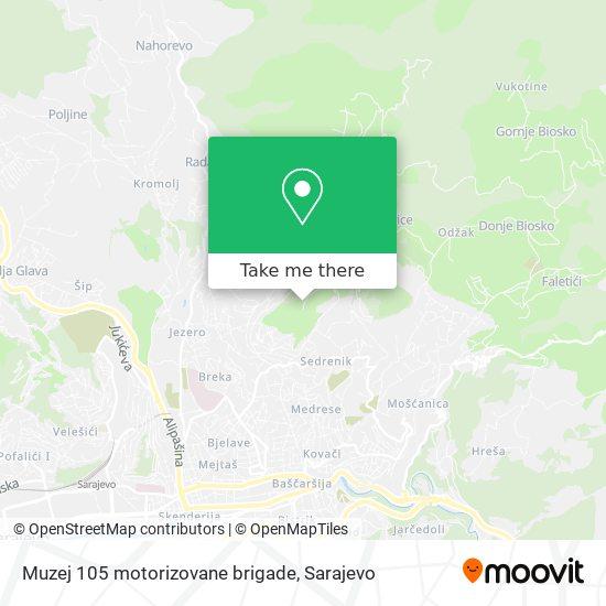 Muzej 105 motorizovane brigade map