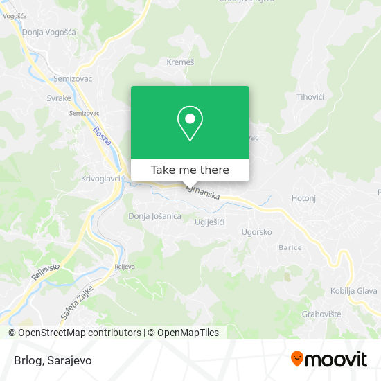 Brlog map