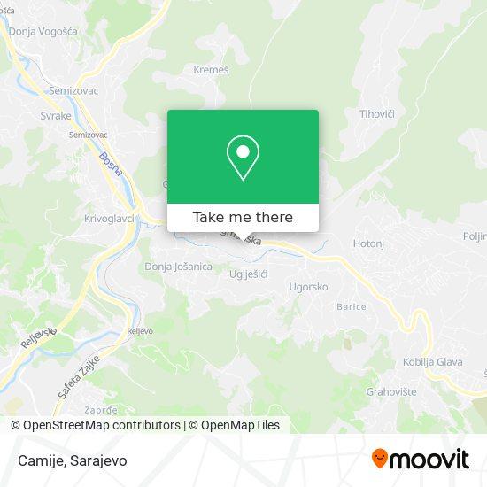 Camije map