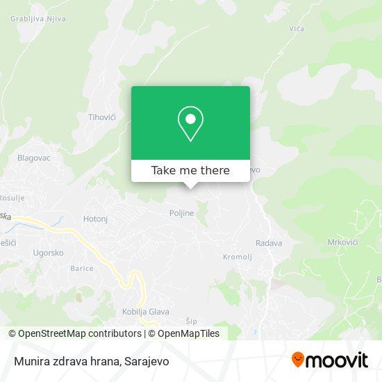 Munira zdrava hrana map