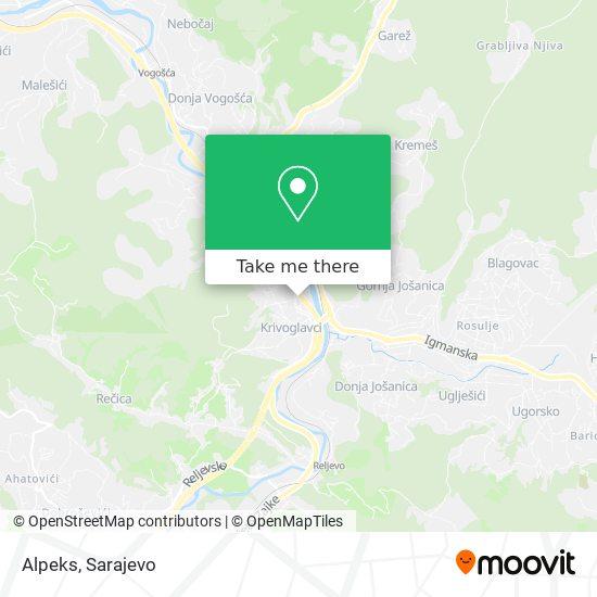 Alpeks map