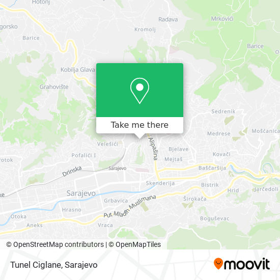 Tunel Ciglane map