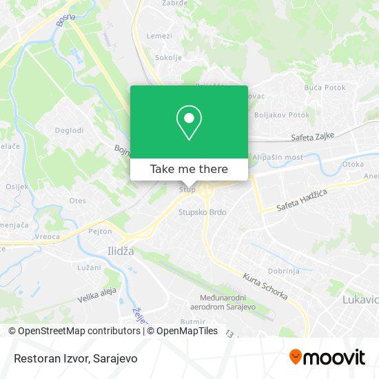 Restoran Izvor map