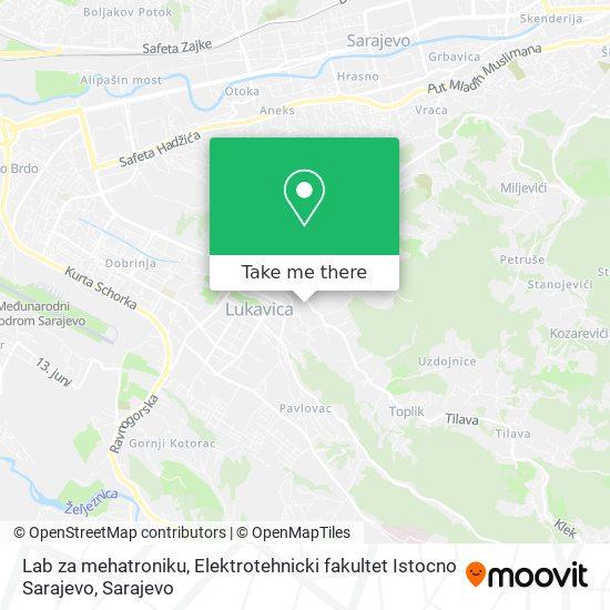 Lab za mehatroniku, Elektrotehnicki fakultet Istocno Sarajevo map