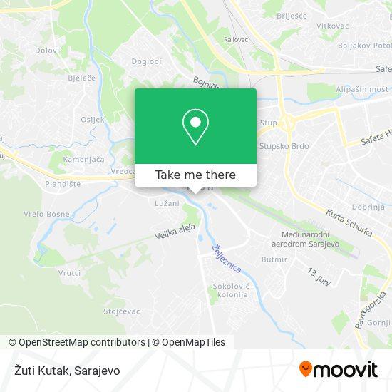Žuti Kutak map