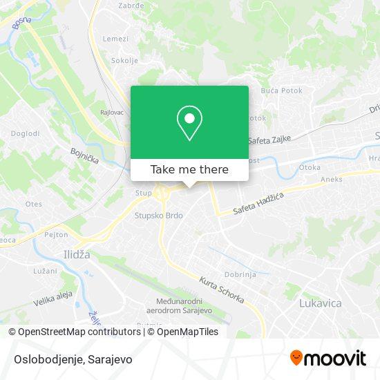 Oslobodjenje map