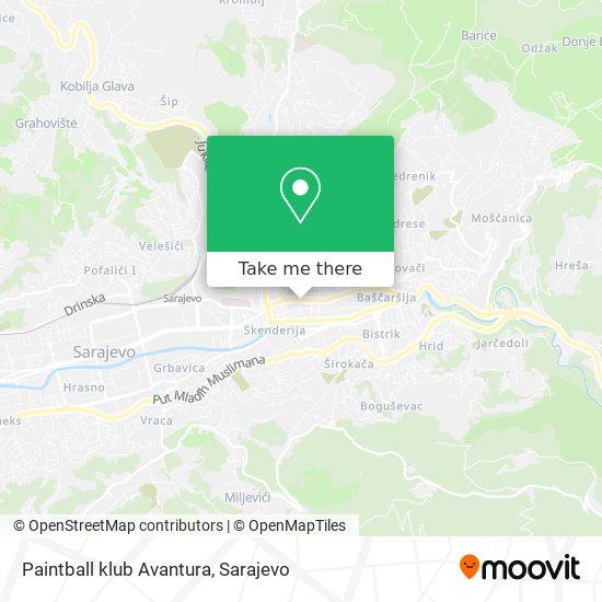 Paintball klub Avantura map