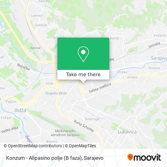 Konzum - Alipasino polje (B faza) map