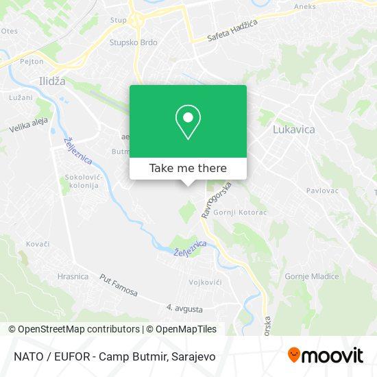 NATO / EUFOR - Camp Butmir map