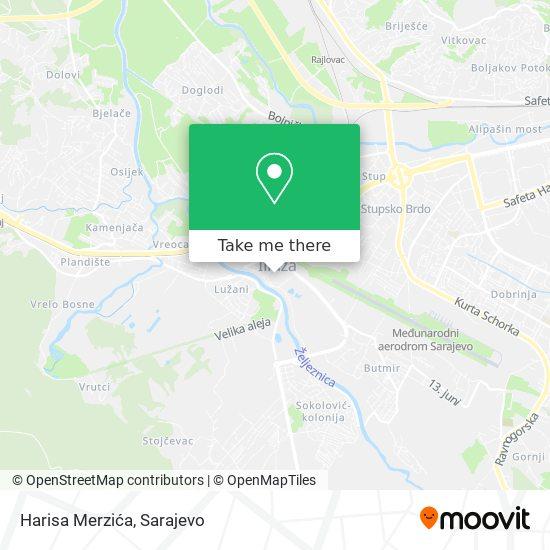 Harisa Merzića map
