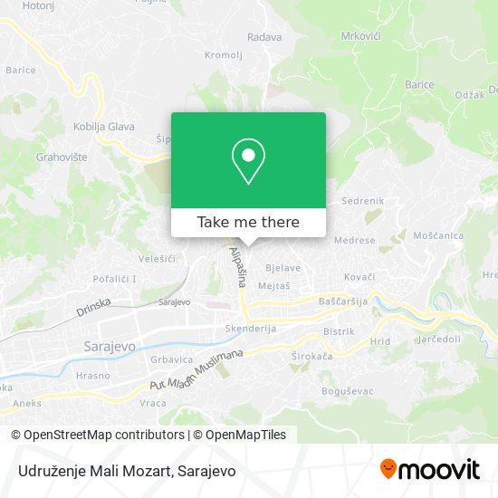 Udruženje Mali Mozart map