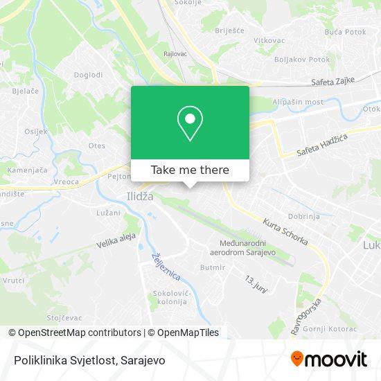 Poliklinika Svjetlost map