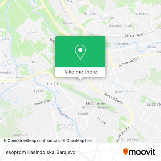 esoprom Kasindolska map