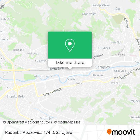 Radenka Abazovica 1/4 D map
