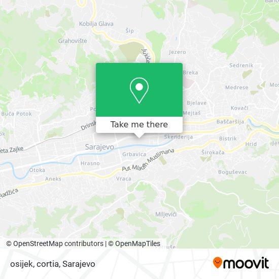 osijek, cortia map