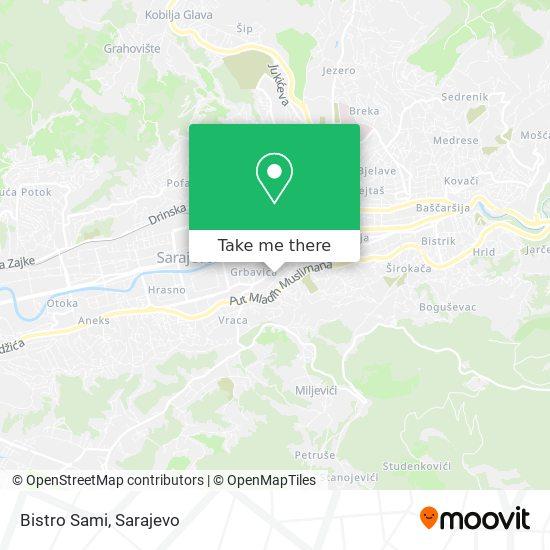 Bistro Sami map
