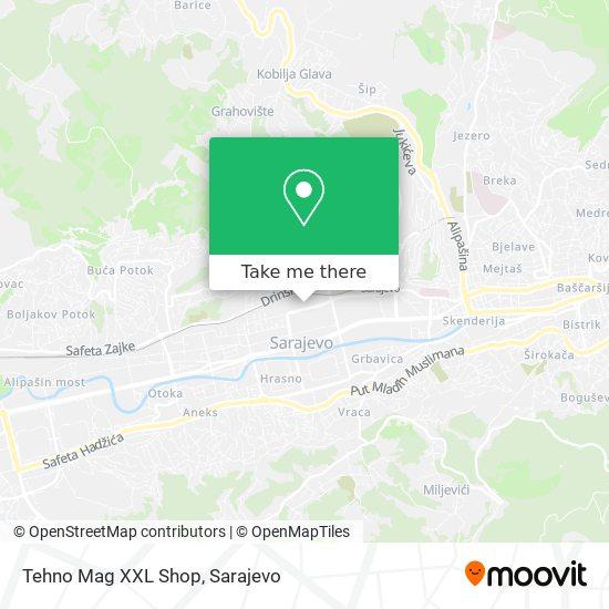 Tehno Mag XXL Shop map