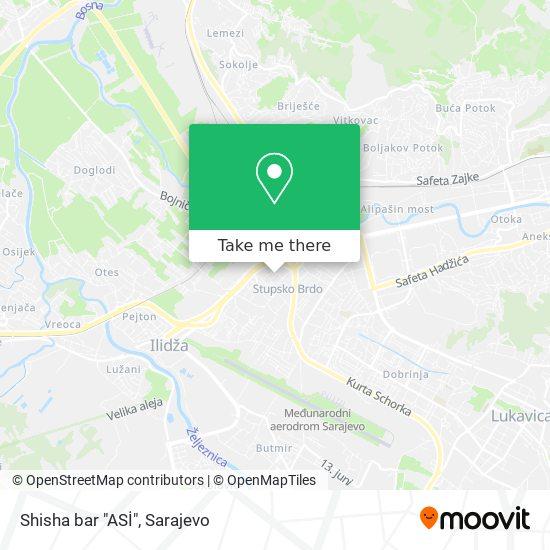 """Shisha bar """"ASİ"""" map"""