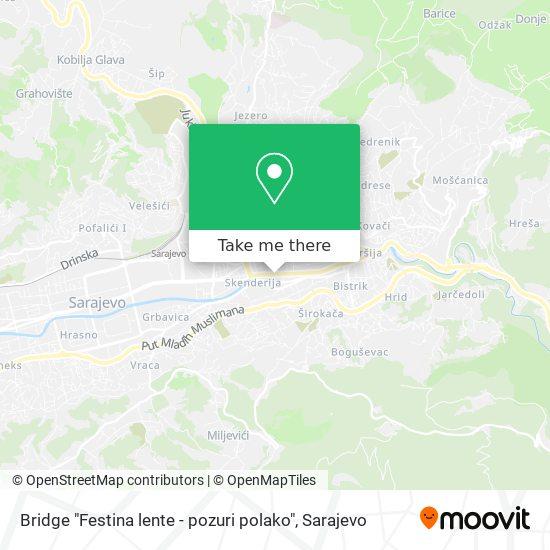 "Bridge ""Festina lente - pozuri polako"" map"