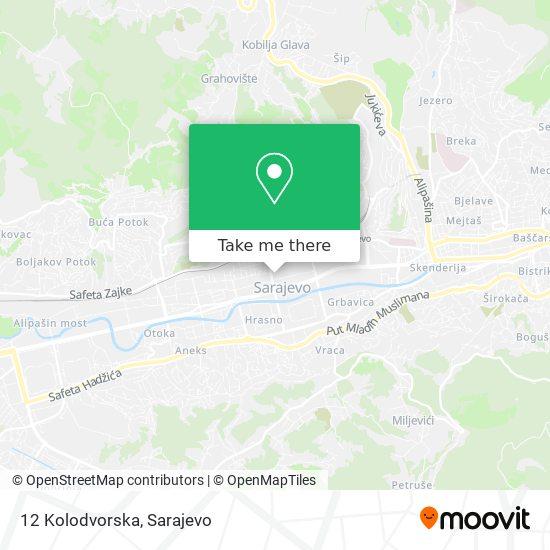12 Kolodvorska map