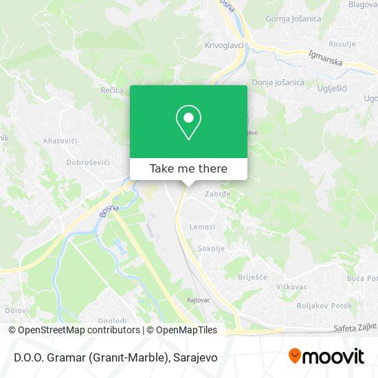 D.O.O. Gramar (Granıt-Marble) map