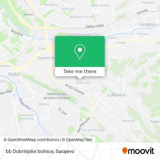 bb Dobrinjske bolnice map