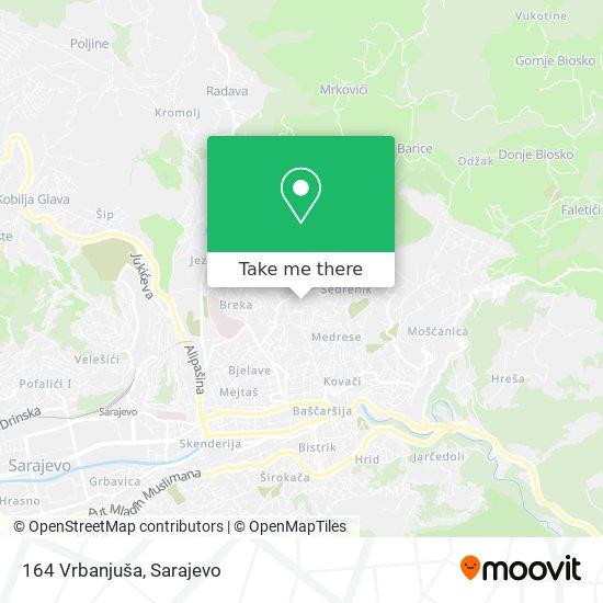 164 Vrbanjuša map