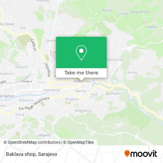 Baklava shop map