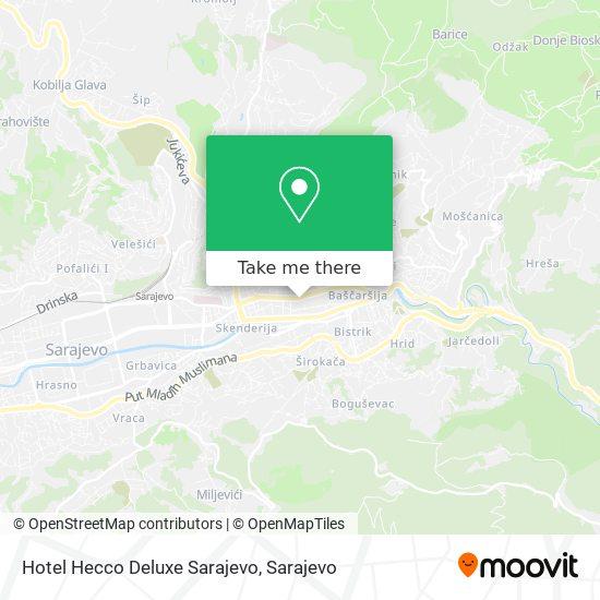 Hotel Hecco Deluxe Sarajevo map
