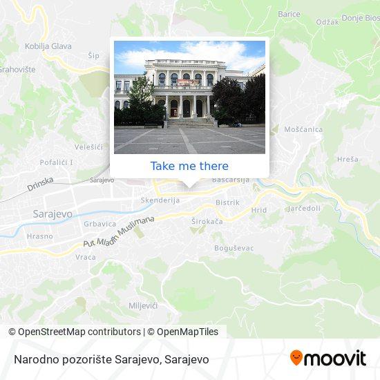 Narodno pozorište Sarajevo map