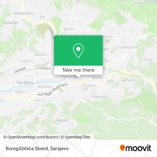 Buregdzinica Skend map