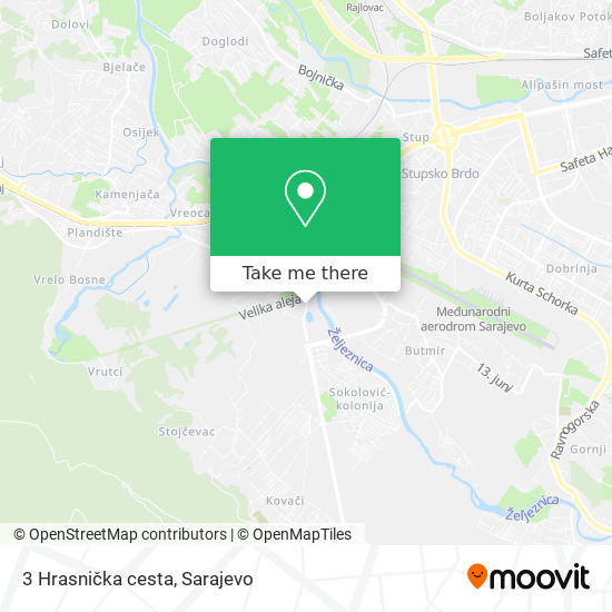 3 Hrasnička cesta map