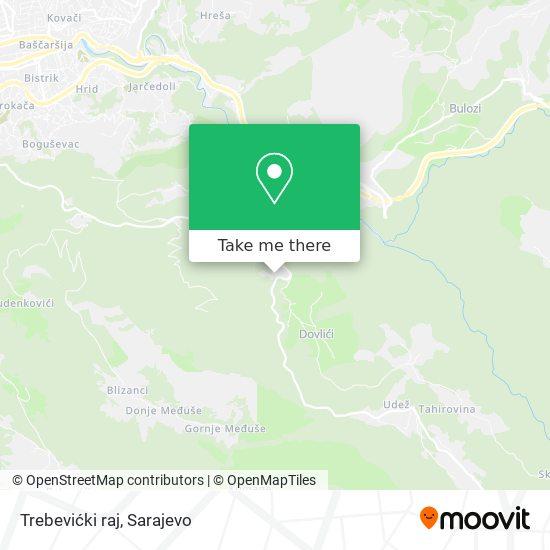 Trebevićki raj map