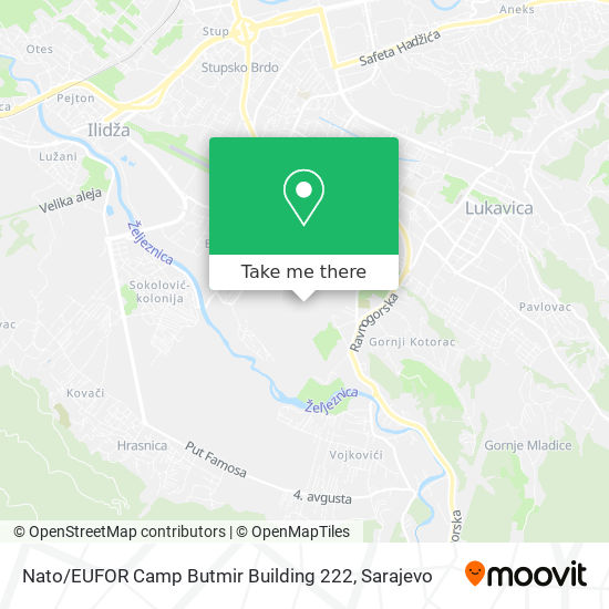 Nato / EUFOR Camp Butmir Building 222 map