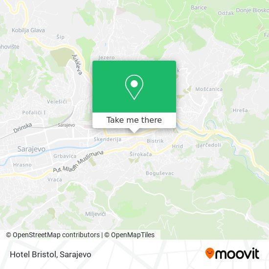 Hotel Bristol map