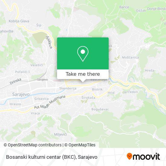 Bosanski kulturni centar (BKC) map