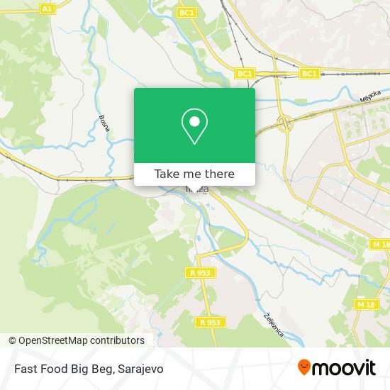 Fast Food Big Beg map